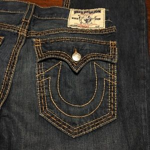 True Religion Jeans - True Religion Mens Jeans Straight 33x32 Dark Flap